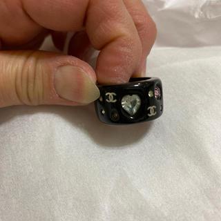 シャネル(CHANEL)のシャネル ラインストーン リング 指輪 正規品 中古(リング(指輪))