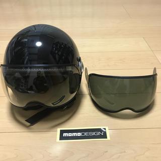MOMO DESIGN ヘルメット Mサイズ スモークシールドのセット(ヘルメット/シールド)