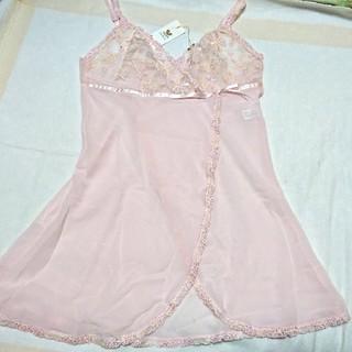 ワコール(Wacoal)の【特価❗】着物のようなデザインのミニ丈スリップ  ピンク(その他)