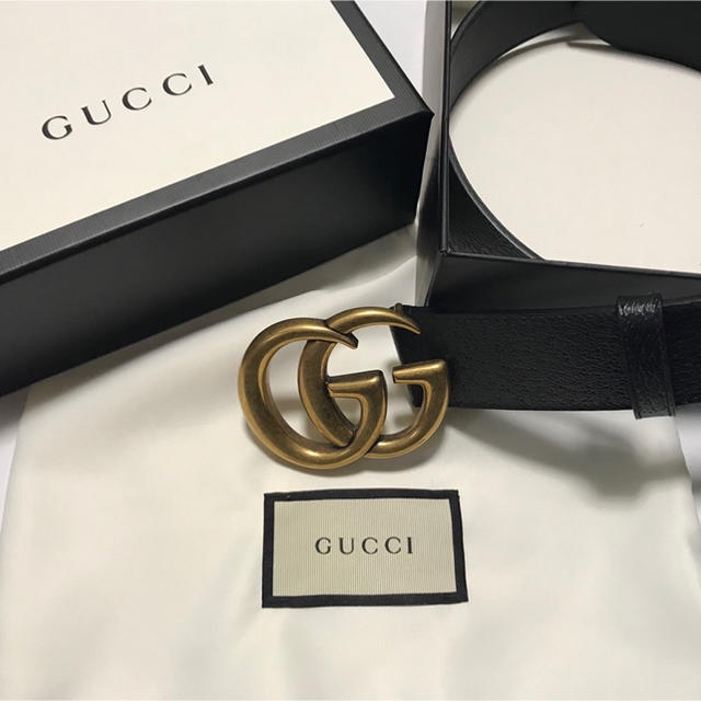 gucci 244946 ky9ir 9643 / Gucci - ダブルGバックル レザーベルトの通販 by high's shop