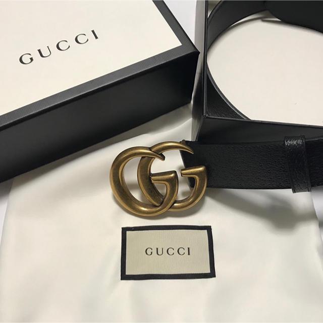 アクセサリー pso2 、 Gucci - ダブルGバックル レザーベルトの通販 by high's shop