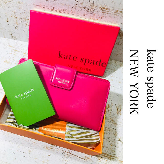 kate spade new york - kate spade ケイト スペード 長財布 2�折り ピンク�通販 by takuto's shop