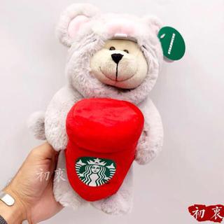 スターバックスコーヒー(Starbucks Coffee)のぬいぐるみ ベアリスタ 熊 2020 鼠 子年 台湾 スターバックス 中国 海外(キャラクターグッズ)