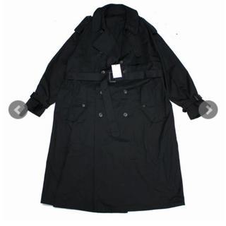 サンシー(SUNSEA)のstein 19ss トレンチコート black (トレンチコート)