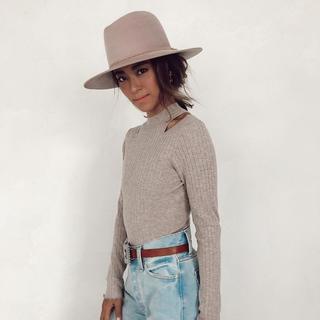 アリシアスタン(ALEXIA STAM)のALEXIA STAM HAT Sand Pink(ハット)