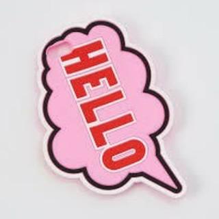 ウィゴー(WEGO)の新品未使用!WEGO モバイルケースカバー iPhone7 HELLO ピンク♪(iPhoneケース)