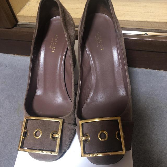 スーパーコピー vuitton 長財布 - Gucci - GUCCI パンプス 36.5 スウェードの通販 by 小春まま's shop