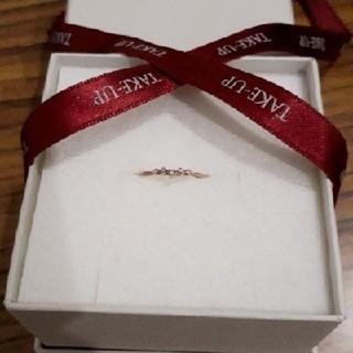 ダイヤモンドVラインリング  カラー  ピンクゴールド サイズ  7号(リング(指輪))