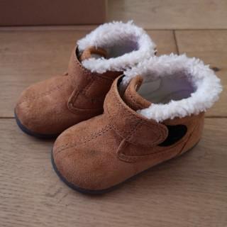 ムジルシリョウヒン(MUJI (無印良品))の無印 ボア使い ハイカットシューズ ブーツ 13センチ (ブーツ)
