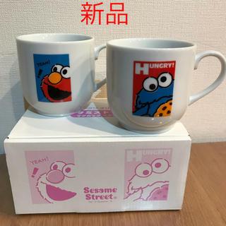 セサミストリート(SESAME STREET)の新品☆セサミストリート☆マグカップ☆ペアカップ(グラス/カップ)