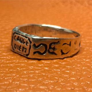 CARPE DIEM シルバー925リング24号指輪 銀時計 大きいサイズ(リング(指輪))