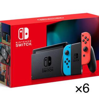 ニンテンドースイッチ(Nintendo Switch)の任天堂switch ネオン×6(家庭用ゲーム機本体)