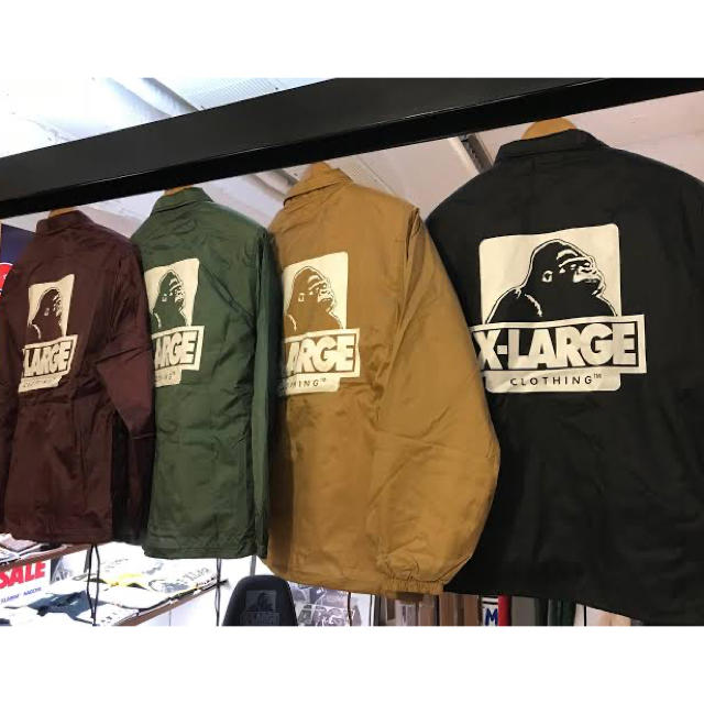 XLARGE(エクストララージ)の XLARGE OG LOGO COACHES JACKET BLACK M   メンズのジャケット/アウター(ナイロンジャケット)の商品写真