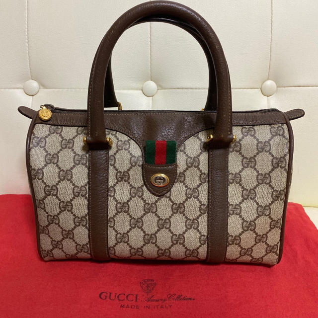 エンポリオアルマーニ ベルト - Gucci - 極 美品 GUCCI オールド グッチ  シェリーライン ボストン バッグの通販 by Safari