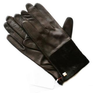 アンテプリマ(ANTEPRIMA)の新品 ファー 革 D.オリーブ アンテプリマ 毛装飾 スマホ対応 SALE 手袋(手袋)