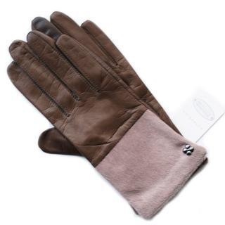 アンテプリマ(ANTEPRIMA)の新品 ファー 革 オリーブ アンテプリマ 毛装飾 スマホ対応 SALE 手袋(手袋)