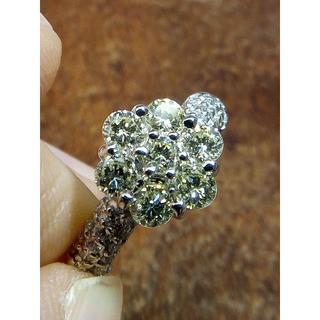 イエローダイヤがキラキラです!Pt900ダイヤリング 10号(リング(指輪))