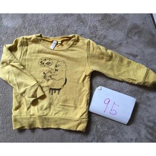 サマンサモスモス(SM2)のキッズ95cmサイズ カーキ色トレーナー サマンサモスモス(Tシャツ/カットソー)