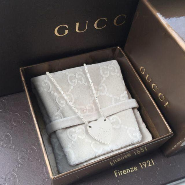 Gucci - ☆新品☆未使用☆Gucci グッチ ハートモチーフネックレスの通販 by mimi's shop
