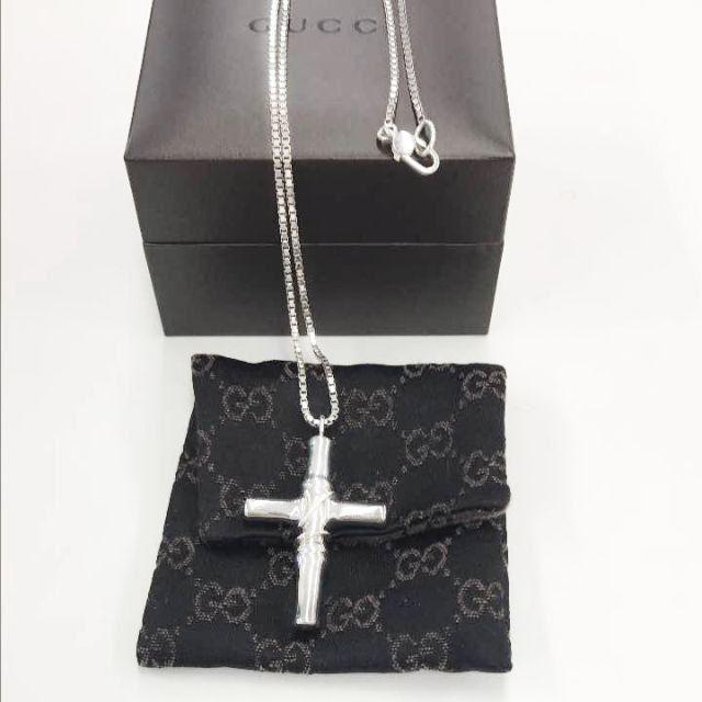 Gucci - ☆新品☆未使用☆Gucci グッチ バンブークロスネックレスの通販 by mimi's shop