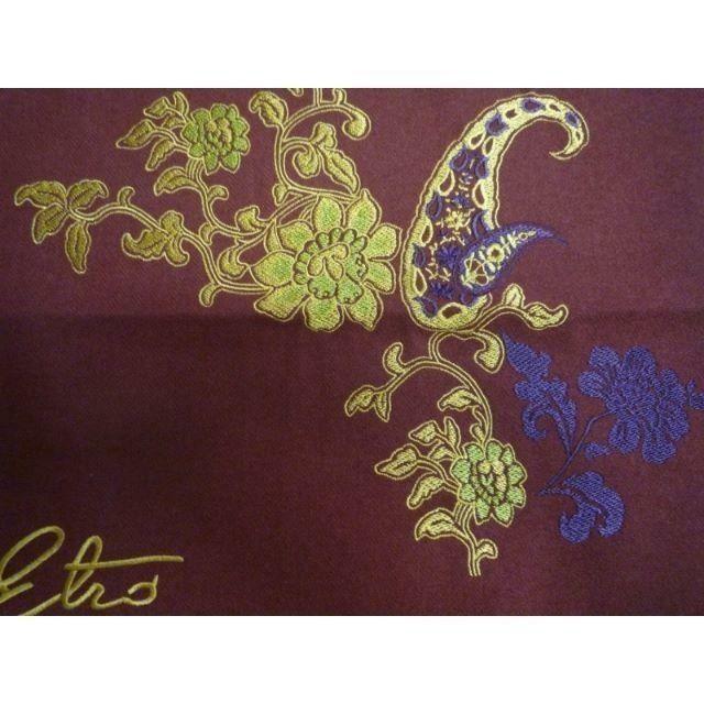 ETRO(エトロ)の新品  エトロ(西川産業) ウールの豪華刺繍クッションカバー 18700円 インテリア/住まい/日用品のインテリア小物(クッションカバー)の商品写真