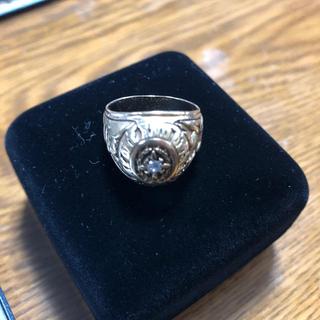 カレッジリング ダイヤ 14K 希少品 激レア 本物 アメリカ 15号(リング(指輪))