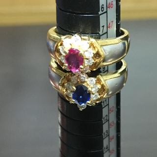 18金プラチナダイヤリング2個セット(リング(指輪))