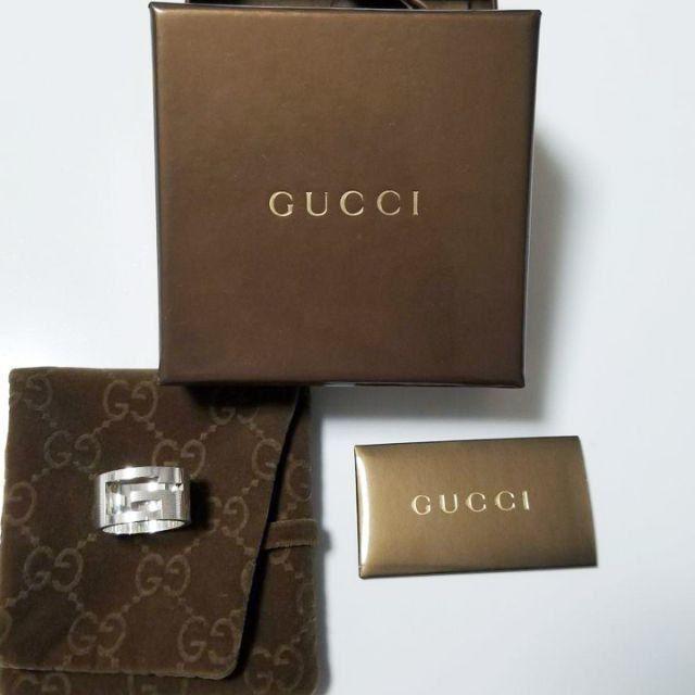 Gucci - ☆新品☆未使用☆Gucci グッチ ブランデッドオープンGリング10号の通販 by mimi's shop
