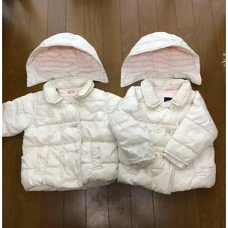 ベビーギャップ(babyGAP)のベビー ギャップ  ダウンコート 双子(ジャケット/上着)