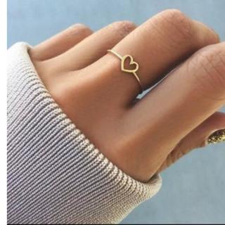 オープンハートリングピンクゴールド色(リング(指輪))