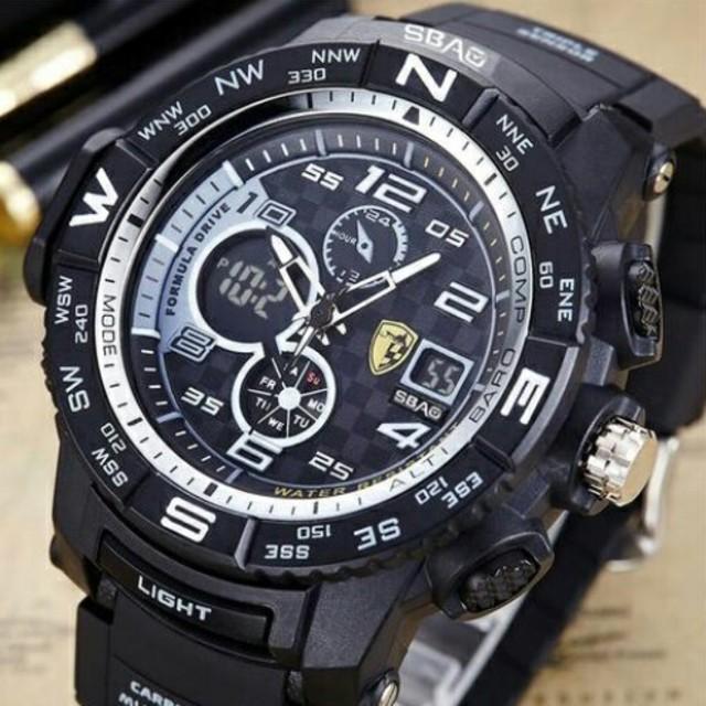 ロレックス スーパー コピー 時計 専売店NO.1 - 新品送料無料メンズ腕時計デジタル多機能メンズLEDブラック×ゴールド56の通販 by merci's shop