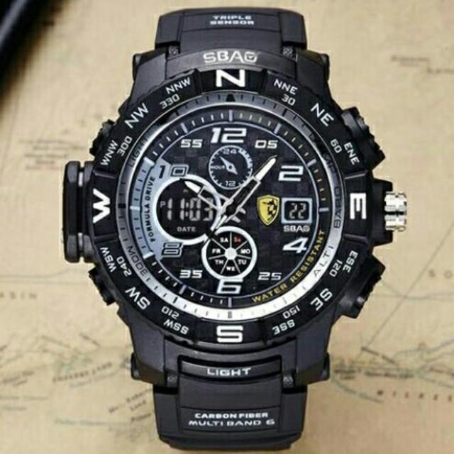 クロムハーツ メガネ スーパーコピー 時計 、 新品送料無料メンズ腕時計デジタル多機能メンズLEDブラック×ゴールド6の通販 by merci's shop