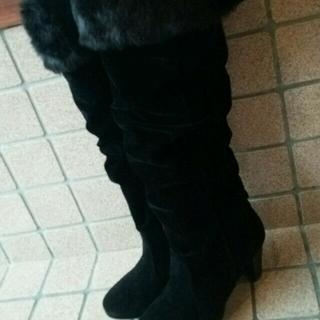 シマムラ(しまむら)のニーハイブーツ♡モコモコリボン(ブーツ)