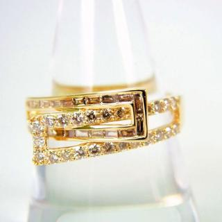 K18 ダイヤモンド リング 20号[g129-11](リング(指輪))