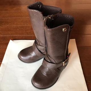 トミーヒルフィガー(TOMMY HILFIGER)のトミーヒルフィガー 幼児 ブーツ ブラウン US7 14.5cm(ブーツ)