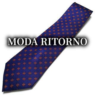アオヤマ(青山)のモダリトルノ フラワーパターン パープル ネクタイ B101-C16(ネクタイ)