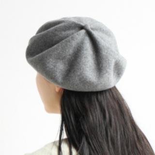 マーガレットハウエル(MARGARET HOWELL)のマチュアーハ★ベレー帽★ライトグレー 毛100%(ハンチング/ベレー帽)