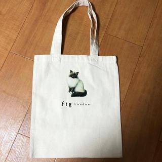 フィグロンドン(fig London)のfig london トートバッグ 猫 チャイルドウーマン A4(トートバッグ)
