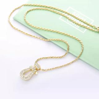 フレッド(FRED)の最高品 ホースシューネックレス 人工ダイヤモンド ペンダントネックレス(ネックレス)