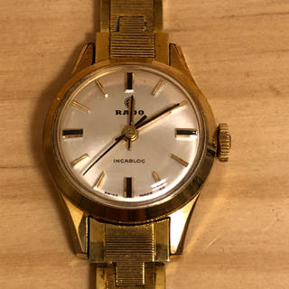 ラドー(RADO)のRADO  ラドー INCABLOC  手巻  女性用  金メッキ ジャンク品(腕時計)