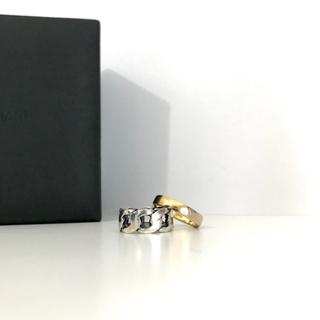 イオッセリアーニ(IOSSELLIANI)のIOSSELLIANI 2連リング チェーン ゴールド イオッセリアーニ(リング(指輪))