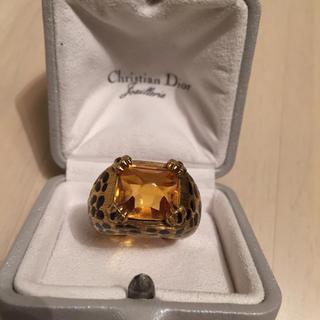 クリスチャンディオール(Christian Dior)の正規品  Dior ヒョウ柄リング☆(リング(指輪))