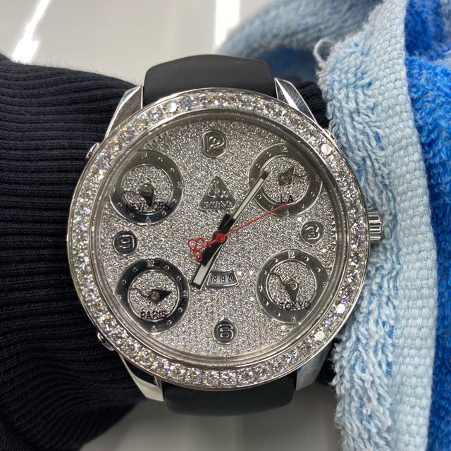 ダミエグラフィット 財布 スーパーコピー時計 、 ジェイコブ jacob&co ファイブタイムゾーンの通販 by たかお's shop