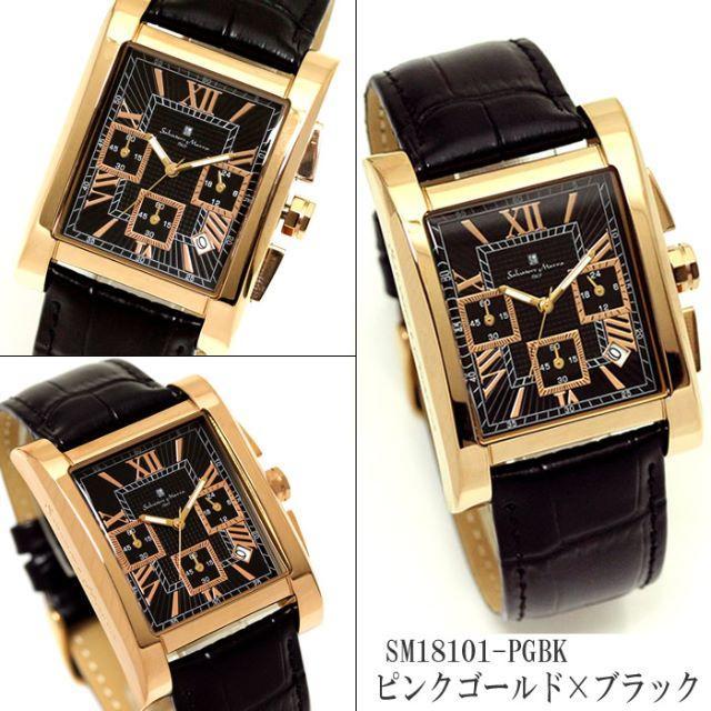 Salvatore Marra - ★サルバトーレマーラ メンズ 腕時計 クロノグラフ 革ベルト カレンダー 人気の通販 by DONDONDON777's shop