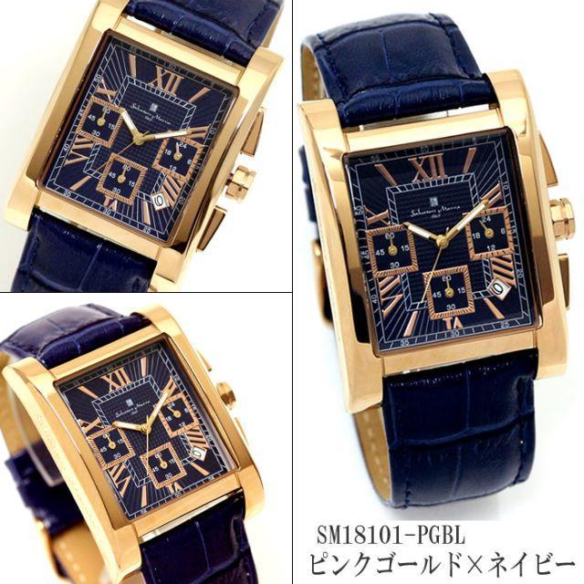 ピンクタンク - Salvatore Marra - クロノグラフ メンズ 腕時計 サルバトーレマーラ 革ベルト カレンダー ブランドの通販 by DONDONDON777's shop