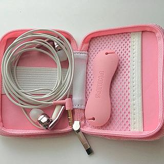 フィリップス(PHILIPS)のPHILIPS イヤフォン ピンク SHE9760PK ヘッドフォン(ヘッドフォン/イヤフォン)