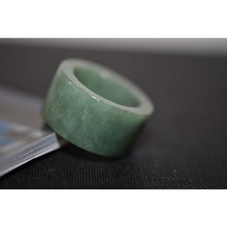 178-1 板指 17.5号 天然 A貨 翡翠リング  硬玉ジェダイト(リング(指輪))