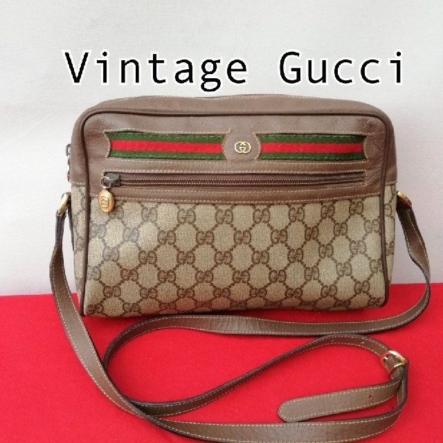 Gucci - 希少 オールドグッチ シェリーライン ビンテージショルダーバッグ 人気モデルの通販 by vintage  shop