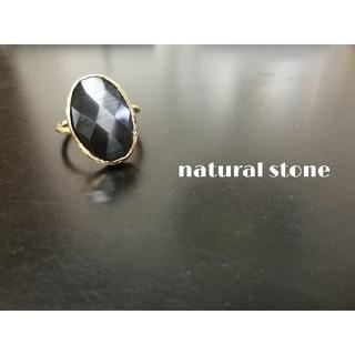 新入荷『ブラックムーンストーン』世界でひとつの天然石リング(リング(指輪))
