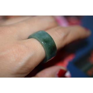 178-4 板指 17.0号~17.5号 天然 A貨 翡翠リング 硬玉(リング(指輪))